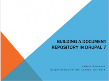 Using Drupal as a document repository?